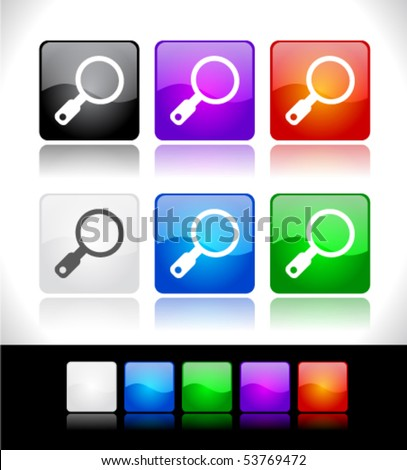 Buttons for web - stock vector