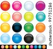 Buttons, Icons Template, Multicolored Design Elements - stock vector