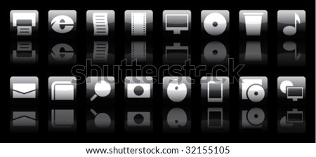 buttons on a black background
