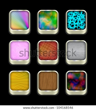 Buttons on black, 10eps. - stock vector