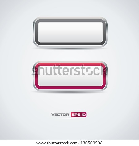 Buttons - vector - stock vector