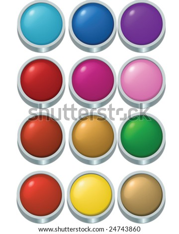 Buttons - vector illustrations