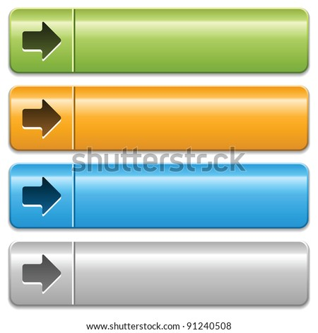 Buttons with arrow symbol on a white background - stock vector
