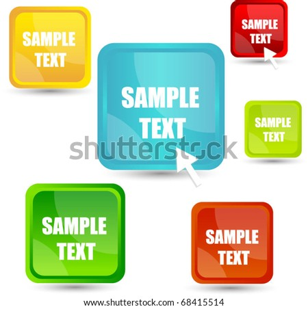 buttons with pointer - stock vector