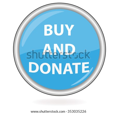 Buy and Donate button - stock vector