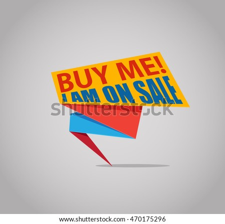 Buy me! I am on Sale! banner for promotion and sales vector illustration