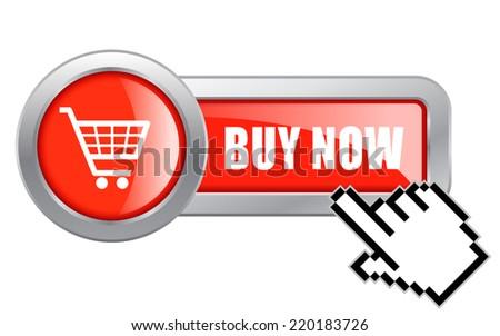 Buy now button - stock vector