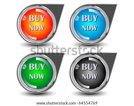 Buy now icon, button-vector illustration. - stock vector
