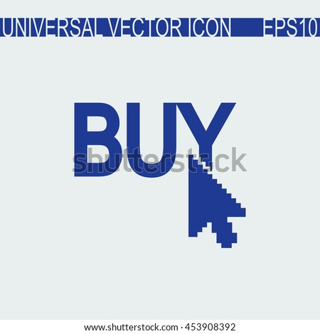 Buy now vector icon. Online buying symbol.