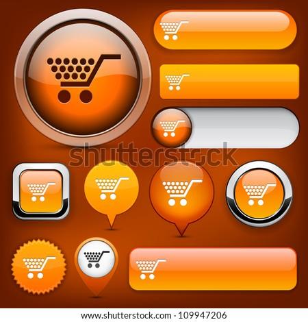 Buy orange design elements for website or app. Vector eps10. - stock vector