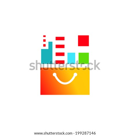 Buying Property sign Branding Identity Corporate vector logo design template Isolated on a white background - stock vector