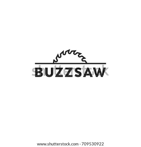 buzz saw logo vector template stock vector royalty free 709530922