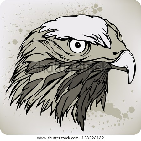 Buzzard hawk, hand drawing. Vector illustration. - stock vector