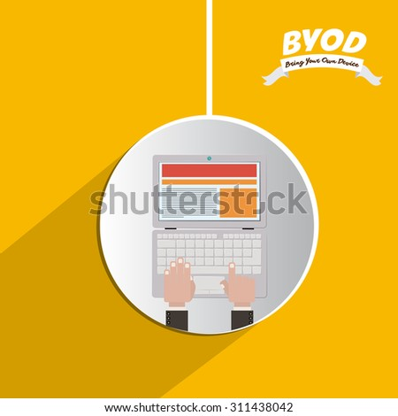 Byod digital design, vector illustration eps 10