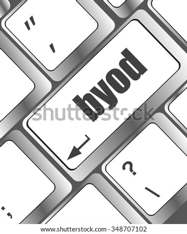 Byod keyboard key of a notebook computer vector illustration