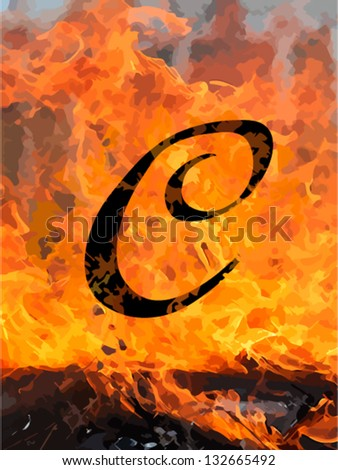 C letters of fire