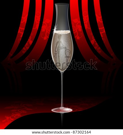 cabaret champagne - stock vector