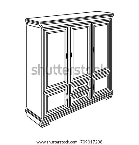 Cabinet Glass Doors Drawers Furniture Interior Stock Photo Photo