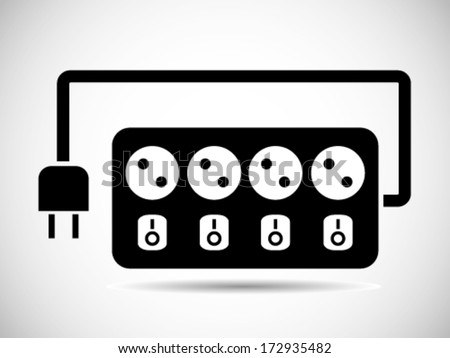 Cable Connector Icon - stock vector