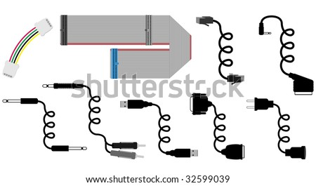 cables vector illustration - stock vector