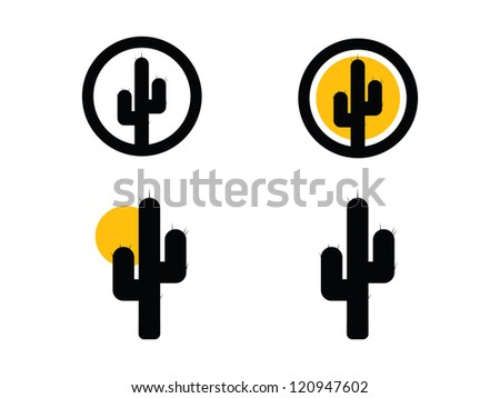 Cactus Icons. - stock vector