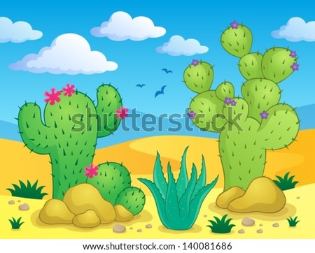 Cactus theme image 2 - eps10 vector illustration. - stock vector
