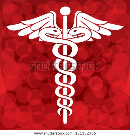 Caduceus medical symbol vector illustration.eps10 - stock vector