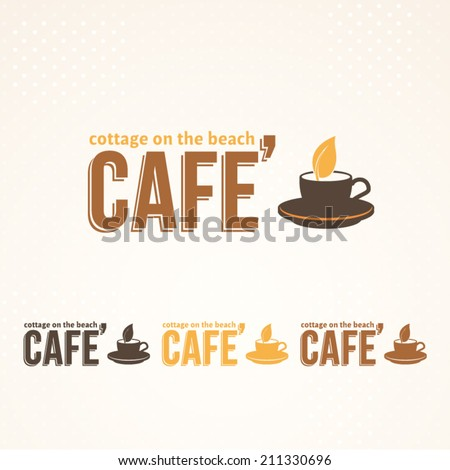 Cafe, Drink Vector Icons, Logos, Sign, Symbol Template  - stock vector