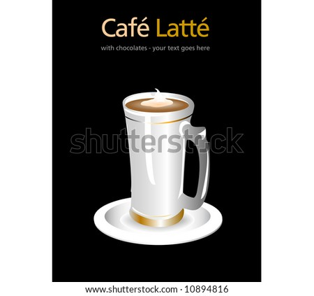 Cafe Latte - stock vector