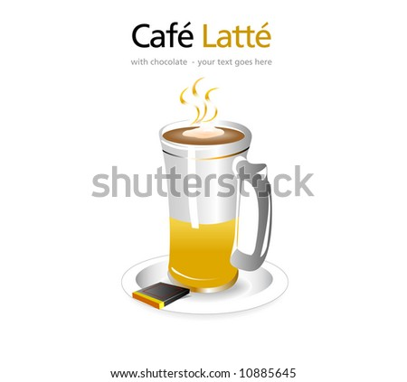 Cafe Latte (Vector) - stock vector
