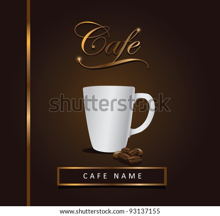 Cafe Menu Design EPS 8 vector, grouped for easy editing. No ope shapes or paths. - stock vector