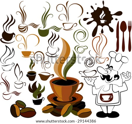 cafe menu icon - stock vector