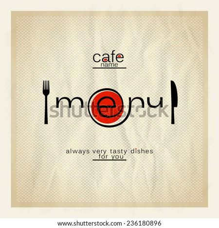 Cafe menu modern design. - stock vector