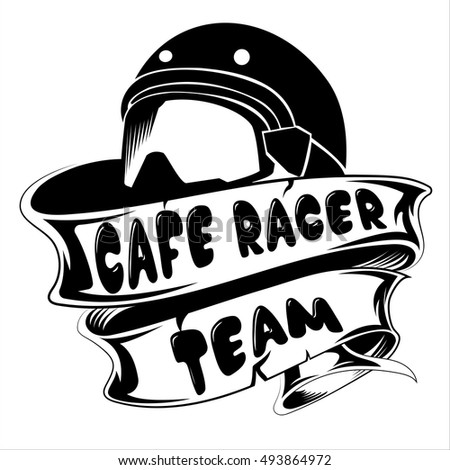 Cafe Racer Team Logo Template Stock Vector 493864972 - Shutterstock