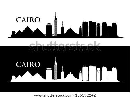 Cairo skyline - vector illustration - stock vector