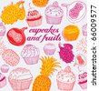 cake background - stock vector