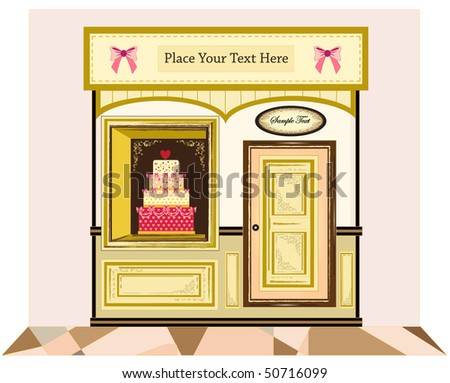 cake cafe - stock vector