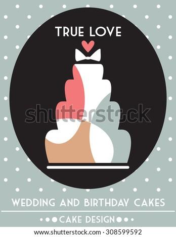 Cake design - stock vector