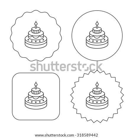 Stock Images Similar To Id 60778972 Outlined Tiered Birthday Cake