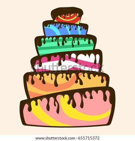 Birthday Cake Vector Icon Stock Vector 370864637 Shutterstock