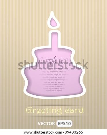 Cake postcard vector illustration - stock vector