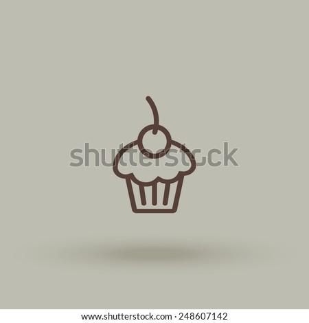 Cake vector icon. - stock vector