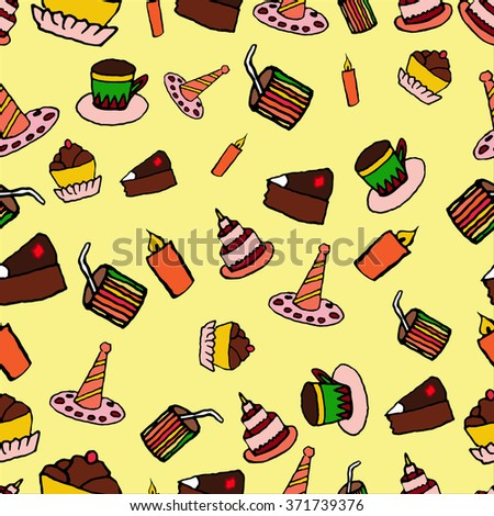 Cakes background - stock vector
