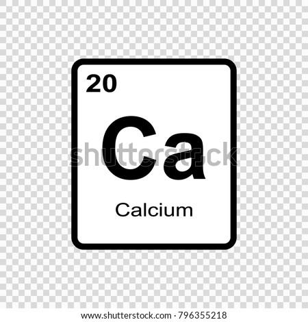 Calcium chemical element sign atomic number stock vector 796355218 calcium chemical element sign with atomic number chemical element of periodic table urtaz Images