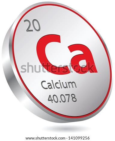 calcium element - stock vector