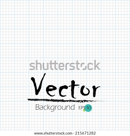 calculation sheet, graph paper background, vector illustration - stock vector