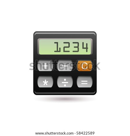calculator - stock vector