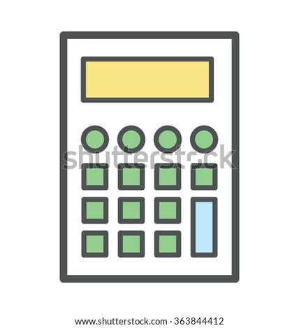 Calculator Bold Icon Illustration - stock vector