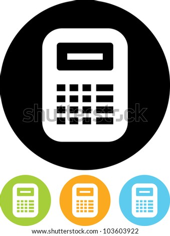 Calculator cash register- Vector icon isolated - stock vector