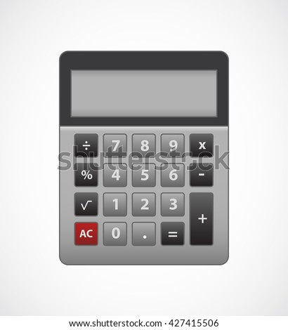 Calculator. Flat design, isolated objects.  - stock vector